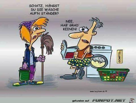 lustiges Bild 'Wäsche aufhängen.png' von Trudi. Eine von