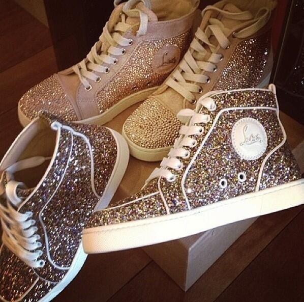 glitter #loubs #louboutin #trainer