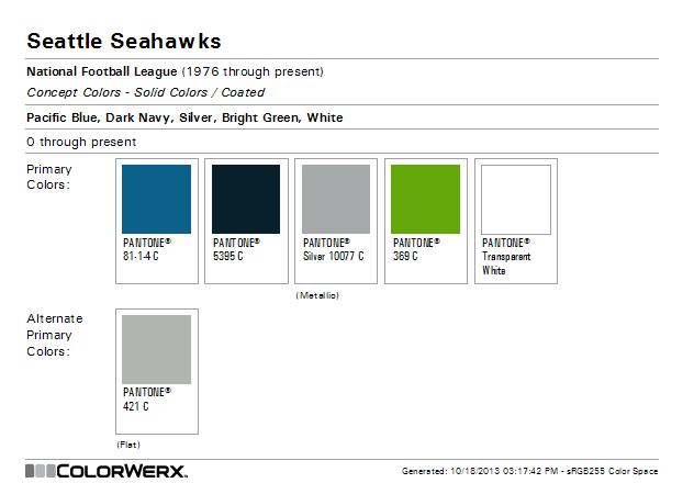 Colorwerx S Image Seahwaks Color Scheme Seahawks Colors