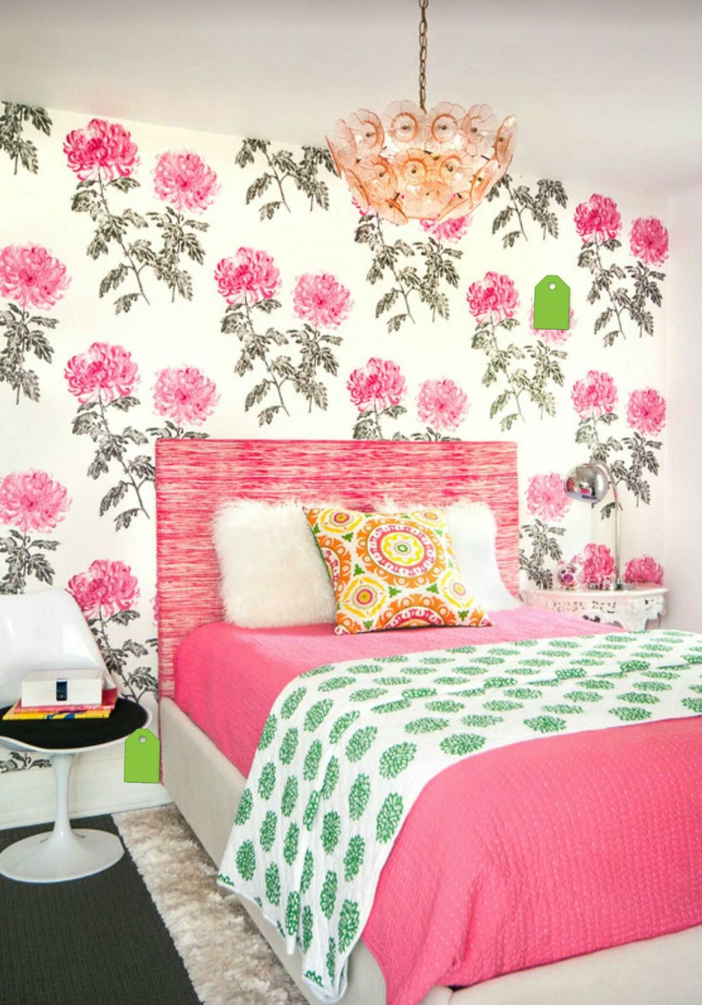 Papier peint fleuri pour ambiance girly for the home pinterest