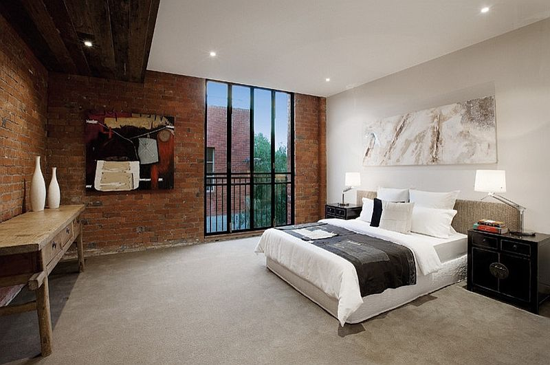 Stylish And Elegant Industrial Style Bedroom