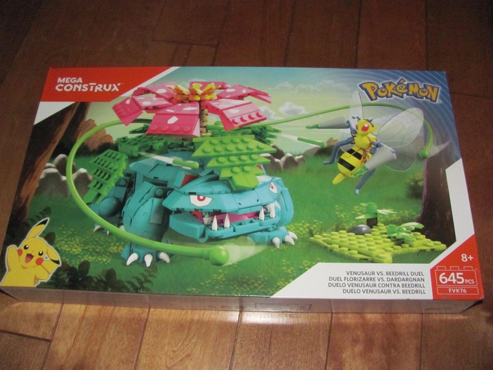 Mega Construx Pokemon Venesaur Vs Beedrill Duel Figures Construction Sets