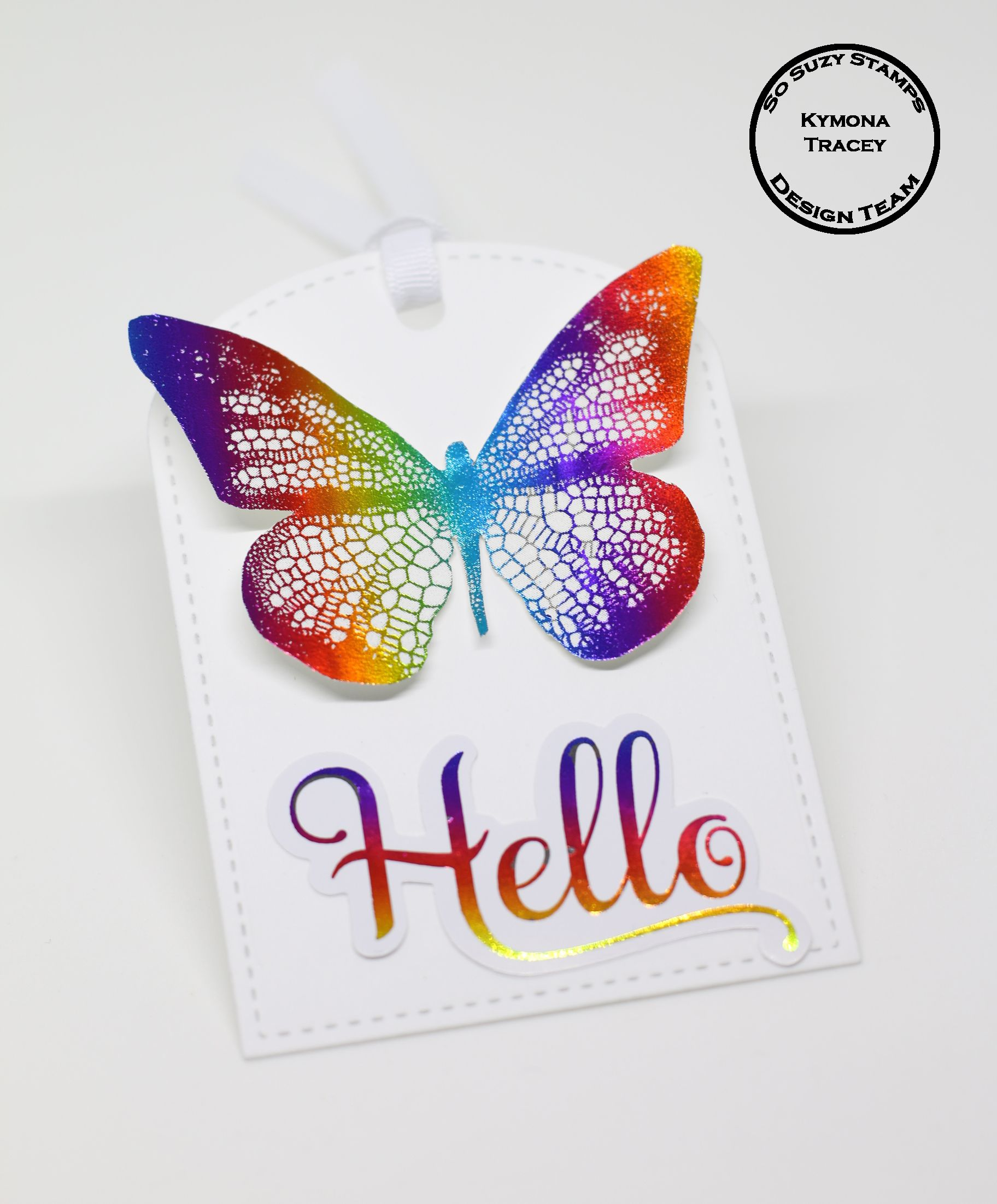 Foiled Butterfly was created with So Suzy Stamps Fancy Butterfly ...