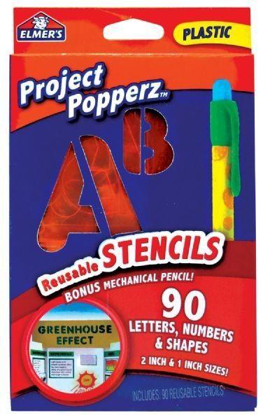Project Count Popperz 90 Piece Reusable Stencils Set (Set of 2)