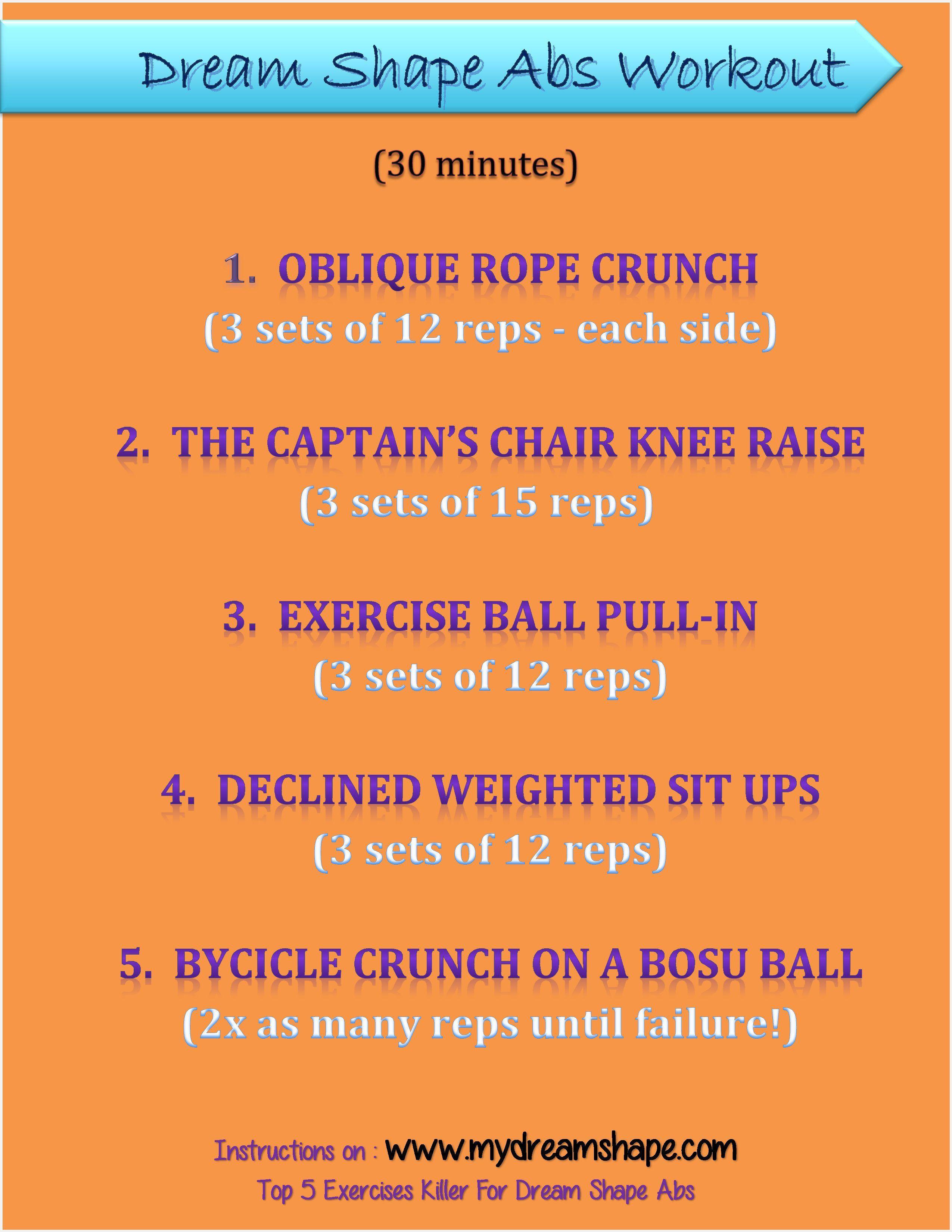 Dream Shape Abs Workout Oblique Rope Crunch The Captain S Chair
