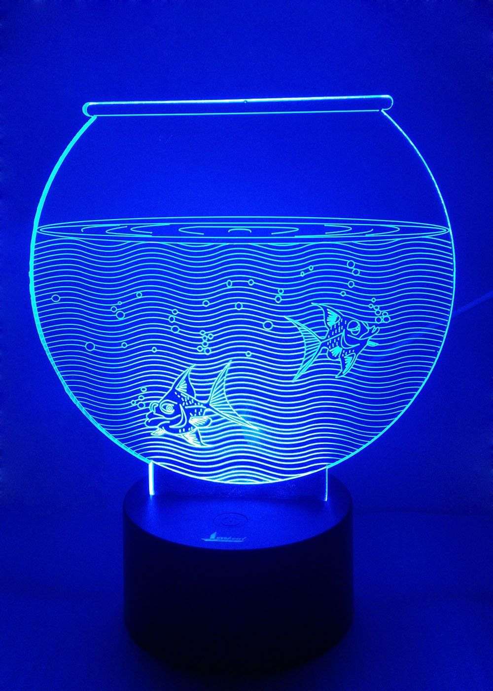 Loveboat Usb Powered 7 Colors Amazing Optical Illusion 3d Glow Led Lamp Art Sculpture Lights Produces Uniq Color Changing Lights 3d Night Light Led Night Light