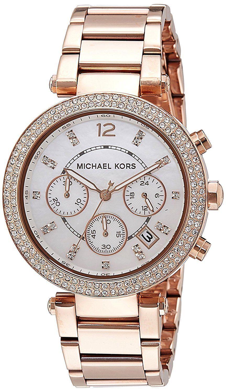 7c0ab191e530 Michael Kors Parker Chronograph Rose Gold-tone Ladies Watch Item No. MK5491