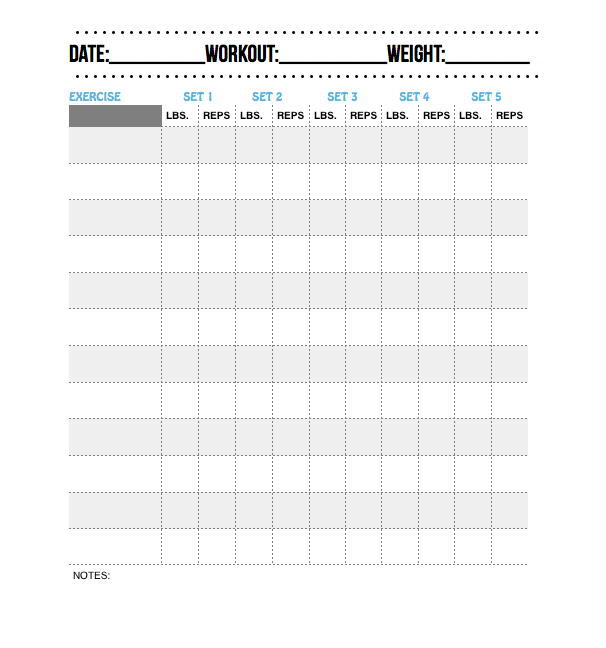 Use This Printable Workout Log To Track Your Workouts  Workouts