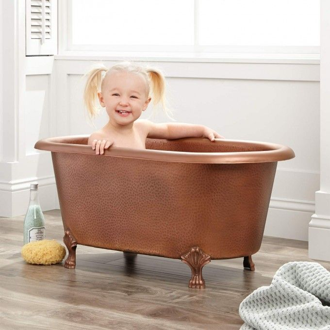 Baby Hammered Copper Clawfoot Tub   Hammered copper, Tubs and ...