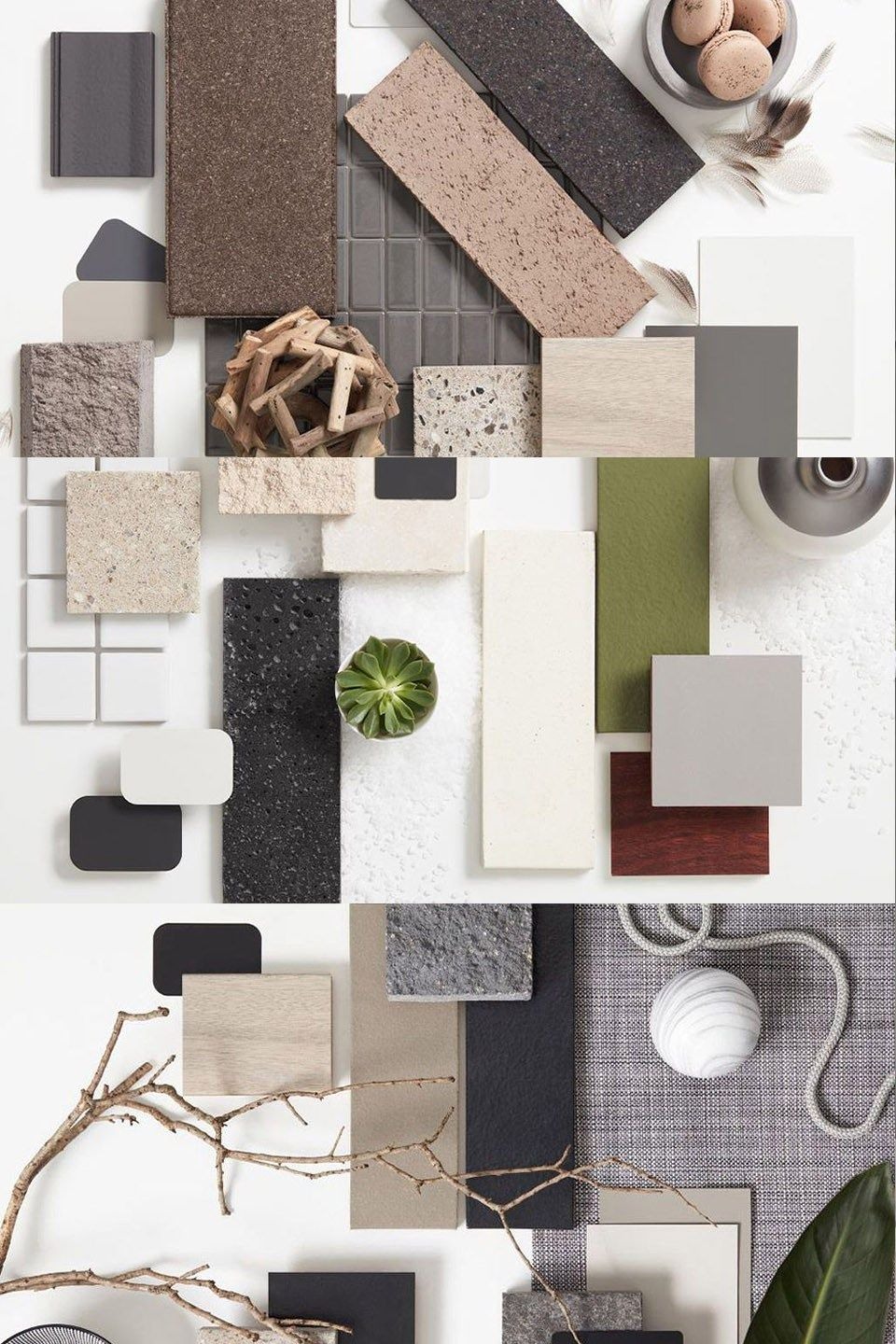 Top 2017 interior trends in moodboards | Material board | Pinterest ...