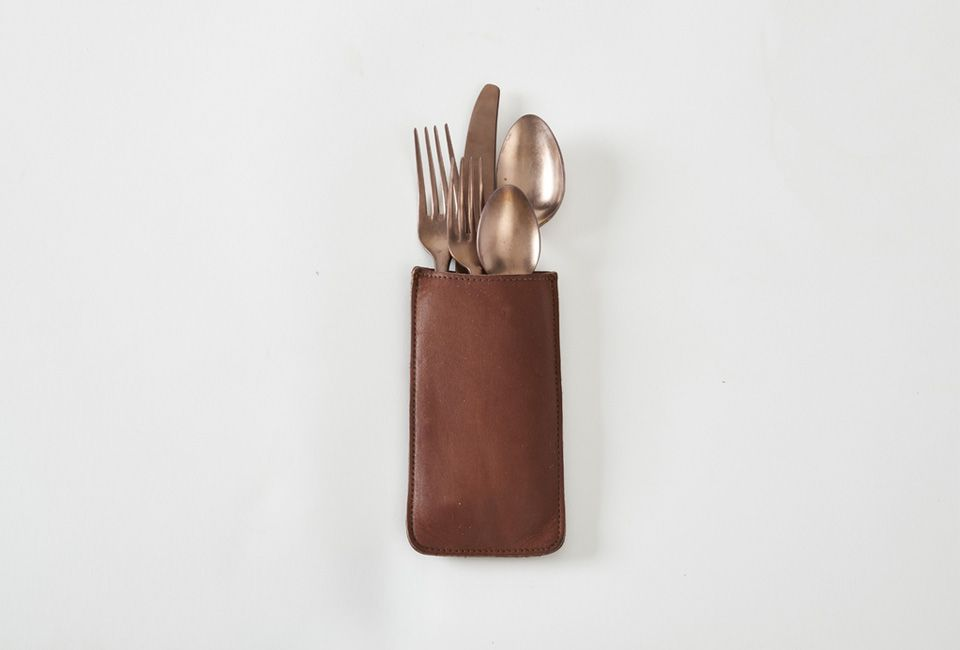 Favorite Flatware Pouches For The Organized Table Remodelista Unique Home Accessories At Home Furniture Store Silverware Holder