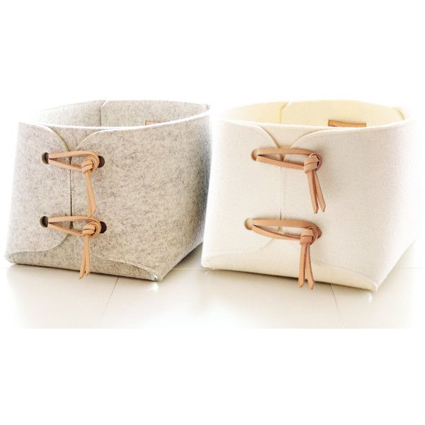 Leather storage boxes home decor