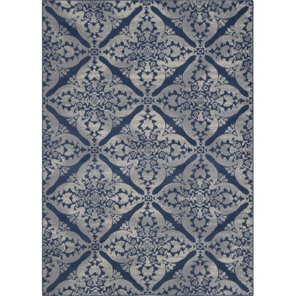 Anzell Ikat Blue Gray Area Rug With Images Blue Gray