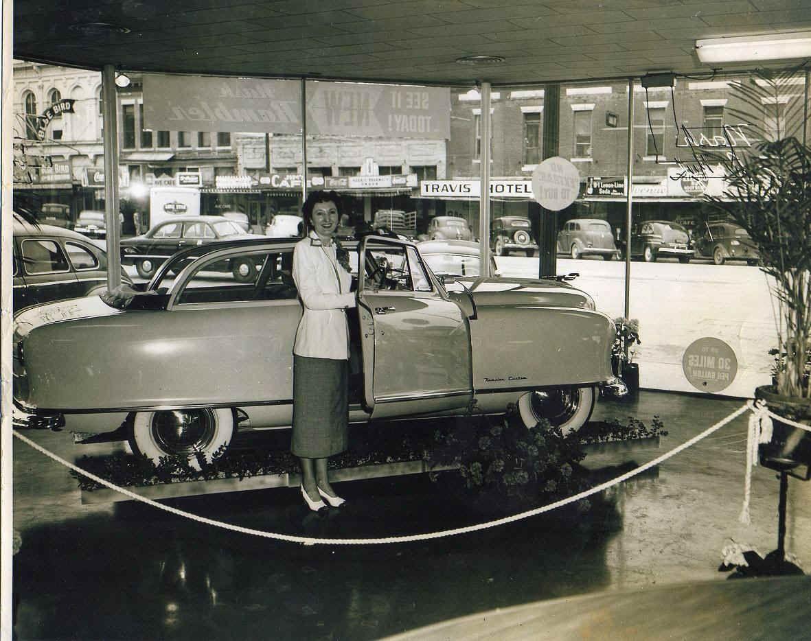 1951 Nash Rambler Convertible in the showroom [pr] | None So New As ...