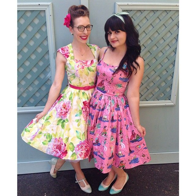 Having an amazing time at Pinup in the Park with the stunning @femmedebloom. Wearing my new dress from @southerncaliforniabelle.