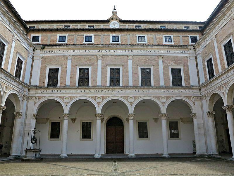 1466-72. Cortile di Palazzo Ducale di Urbino,realizzato da Luciano Laurana,