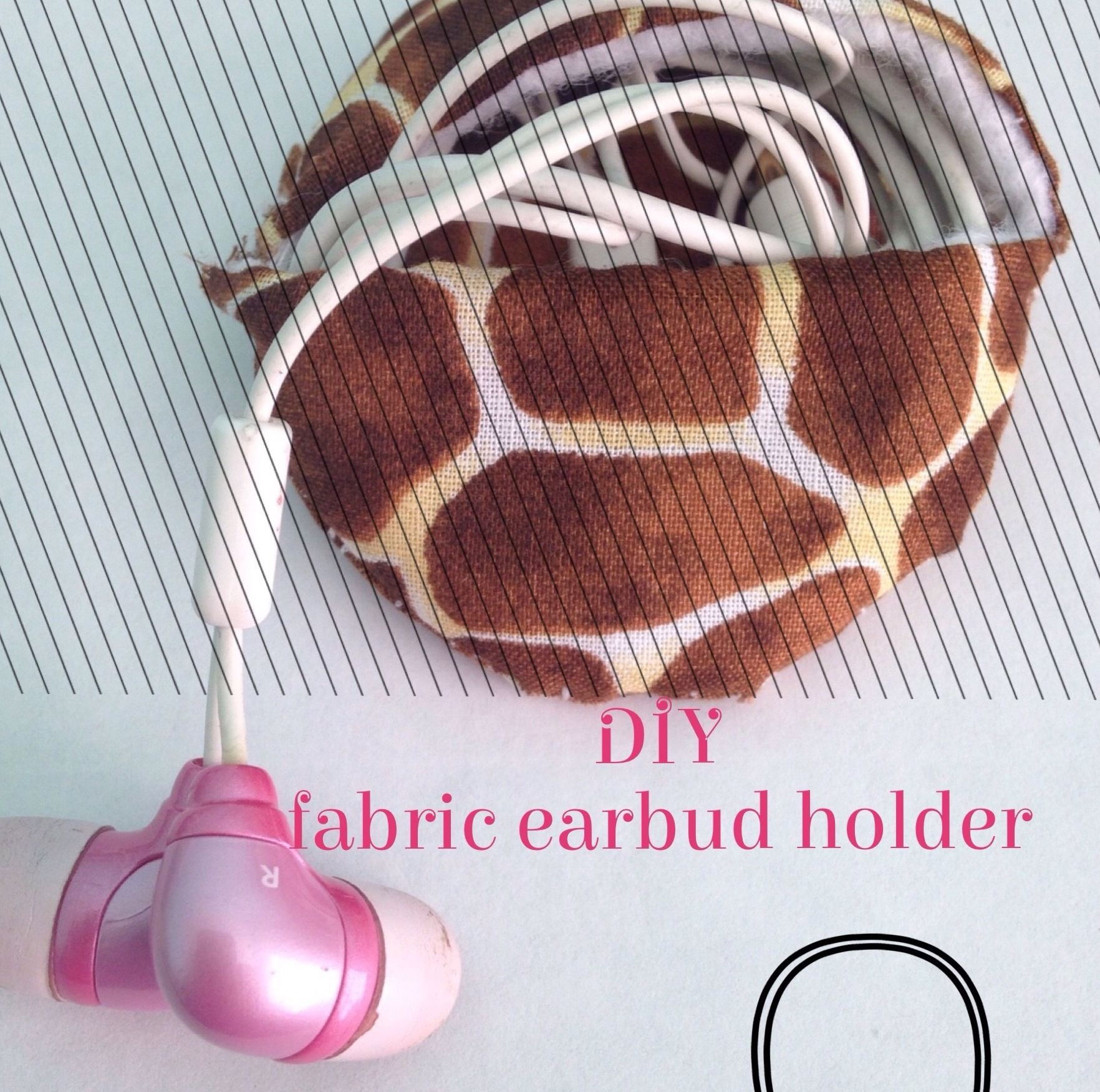 Diy Fabric Earbud Holder With Images Earbud Holder Diy Fabric