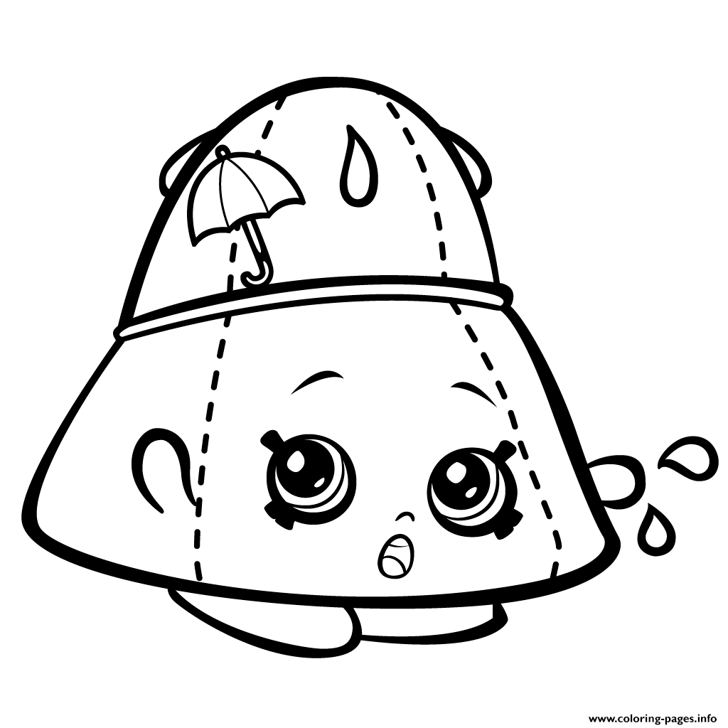 Print Rain Hat Taylor Rayne Shopkins Season 3 Coloring Pages