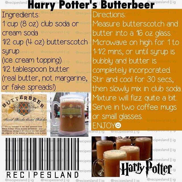Harry Potter Butterbeer Recipe Party Top Harry Potter Butter Beer Recipe Harry Potter Harry Potter Butter Beer Butterbeer Recipe