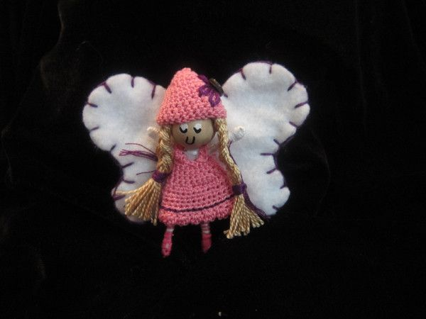 What a fun idea for little girls! Pocket Fairy Alvina is 2.5 inch little doll. Handmade right down to the crocheted little clothes. She comes with her own story about her hobbies, her birthday and her special gift. She is a one of kind Pocket Fairy that comes straight from Alvern Land, where magic is made possible.
