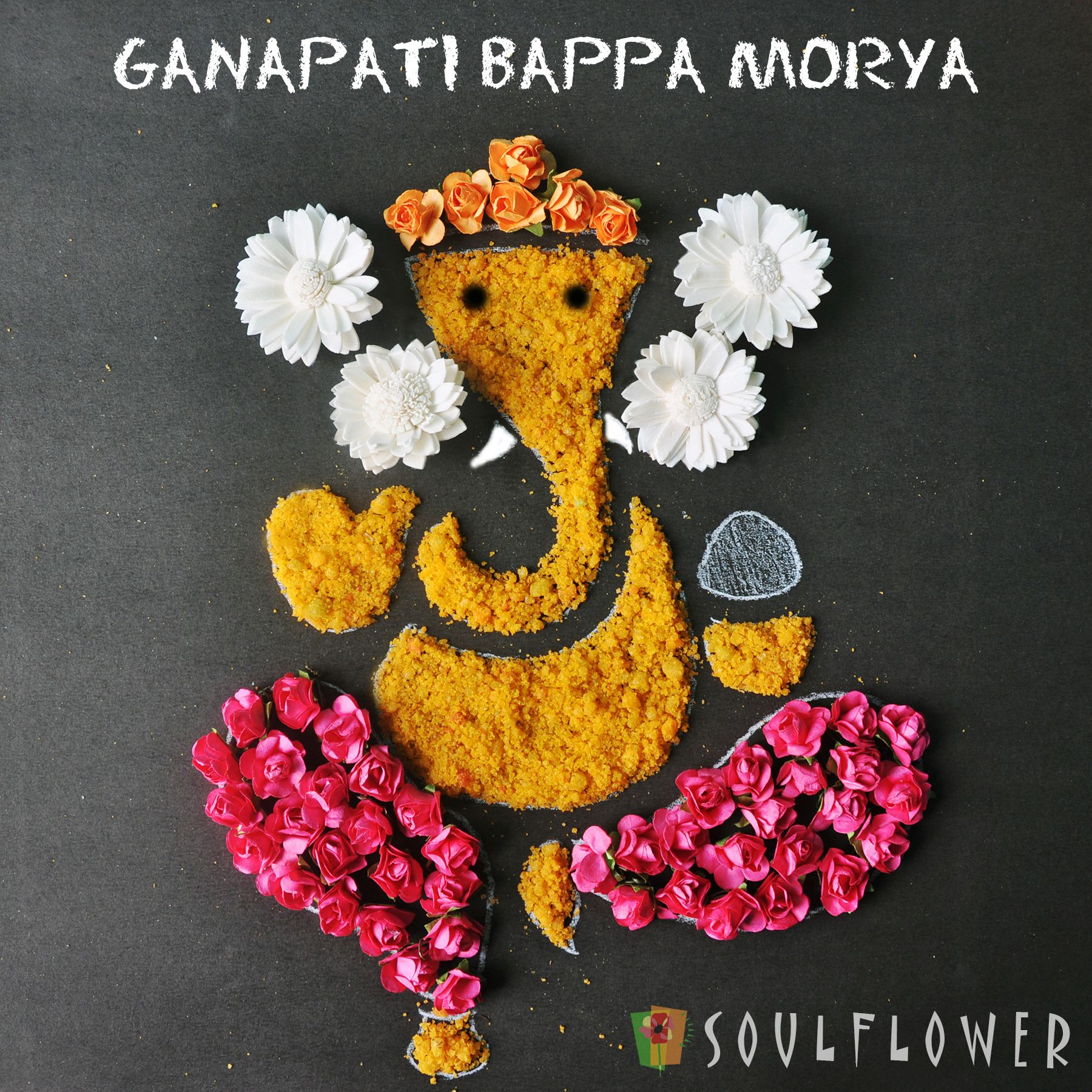 Ganpati Bappa Morya | ❣️RaNgOli❣ | Pinterest | Diwali ... for Flower Decoration Ideas For Ganpati  56mzq
