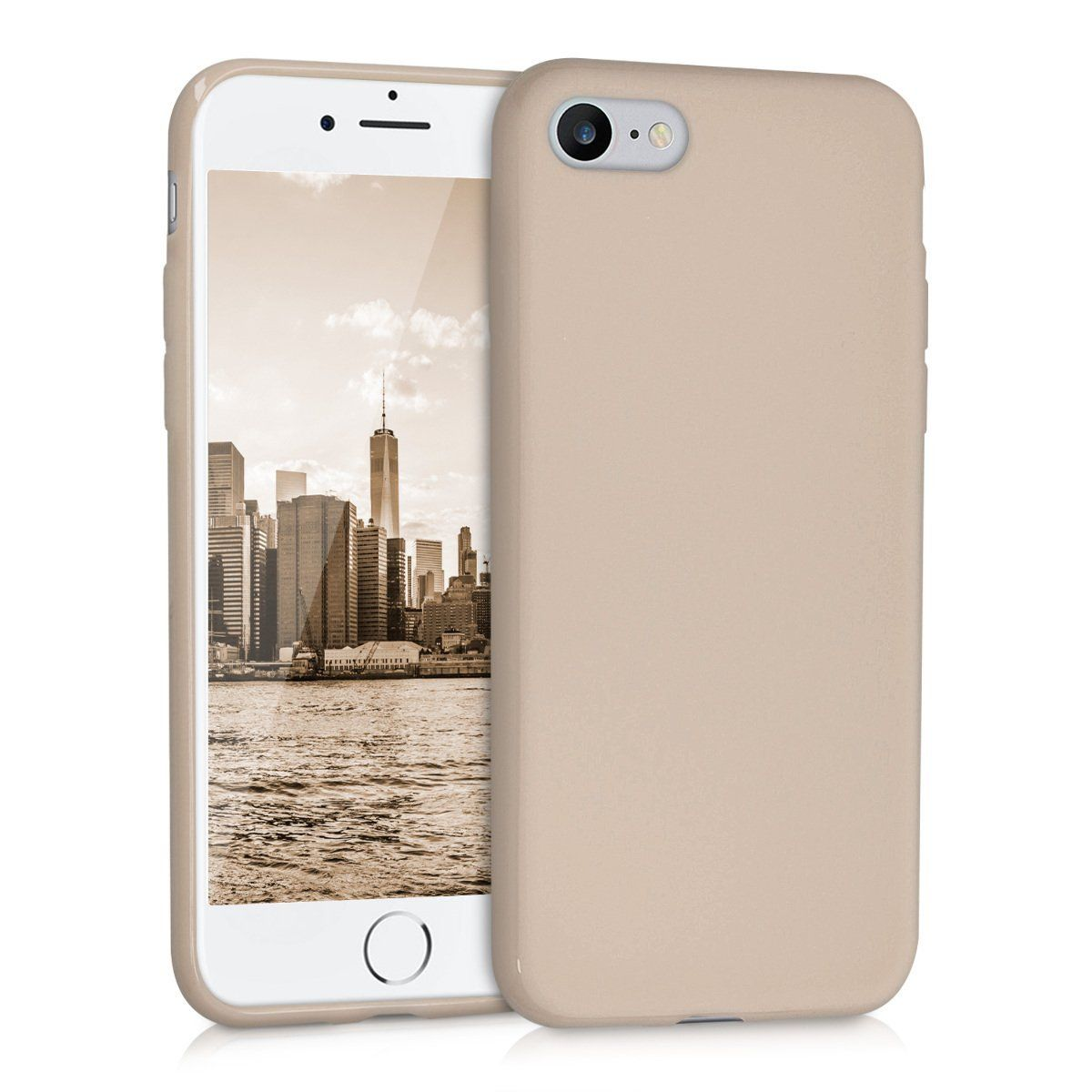 fdbfa685405 kwmobile Chic TPU Silicone Case for the Apple iPhone 7 / 8 in beige matt