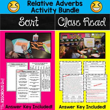 Relative Adverbs Activity Bundle