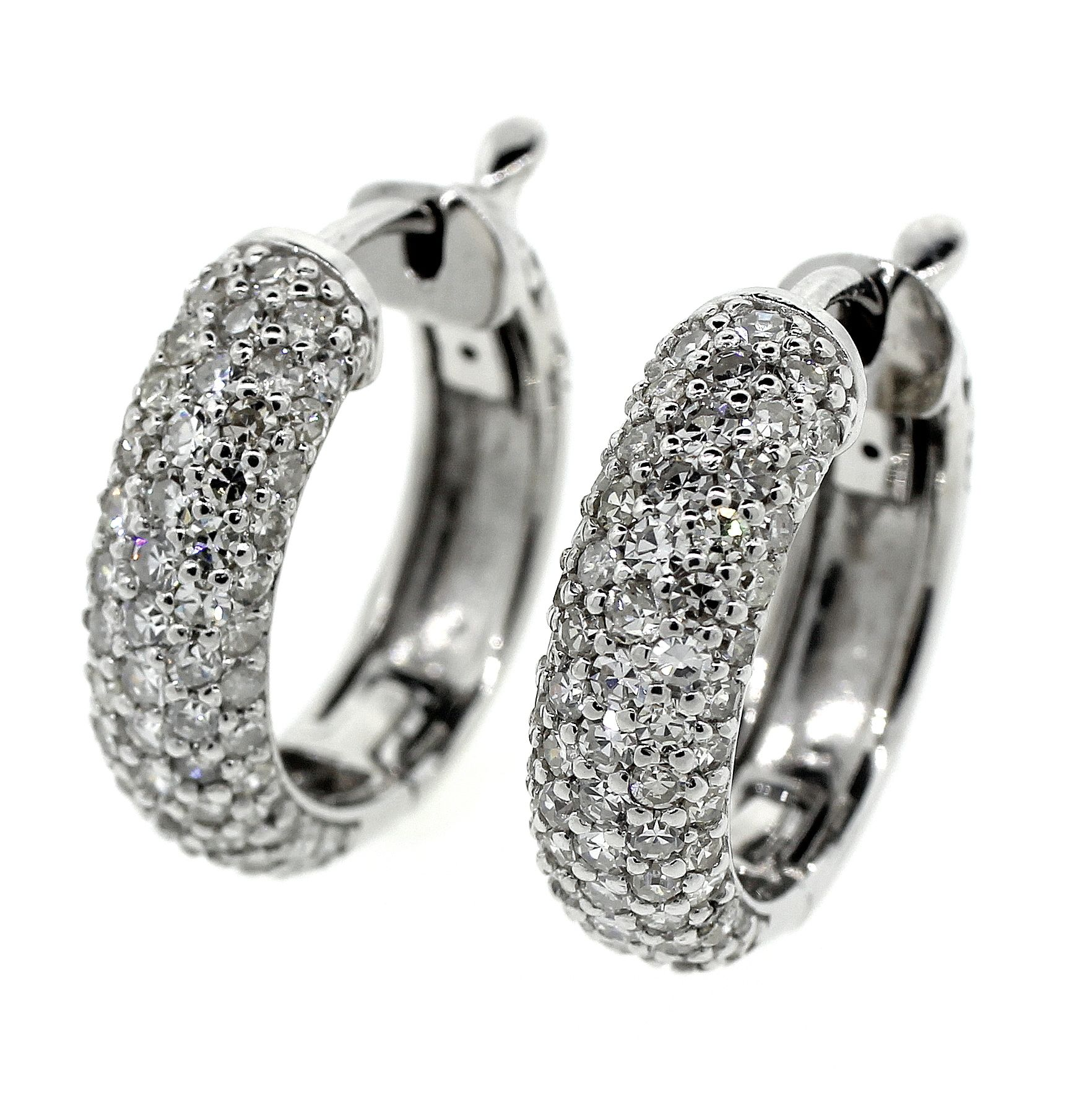 Diamond pave huggie earrings Earrings Pinterest