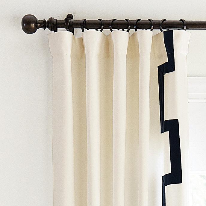 Fret Trim Curtains Set Of 2 In 2020 Drapery Panels Curtain Trim