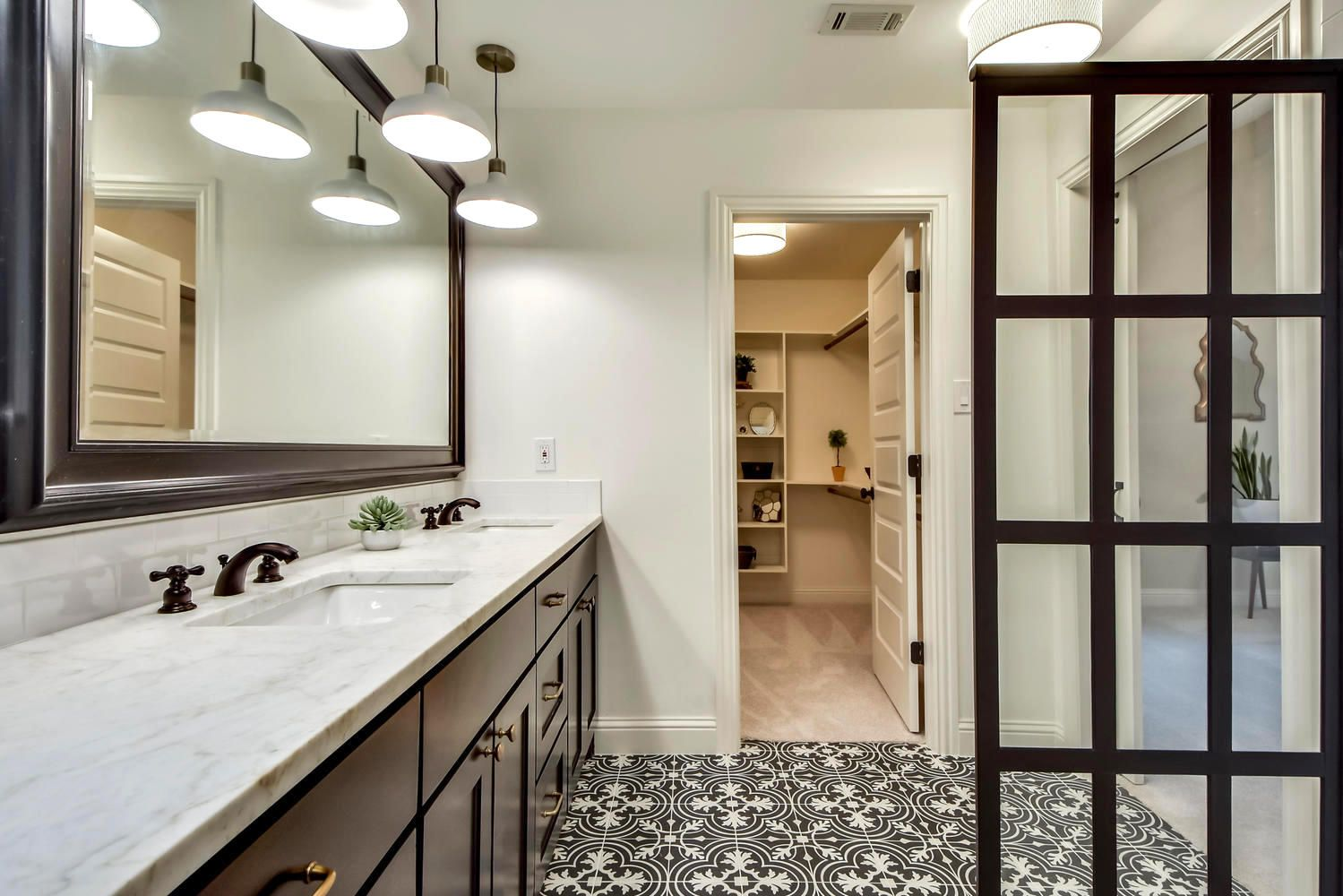 bathroom remodeling austin tx. Black And White Bathroom Remodel By Melisa Clement Designs In Austin, TX With Patterned Tile Remodeling Austin Tx