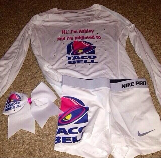 a7763ceee2a61 Ha Taco Bell Cheer Outfit