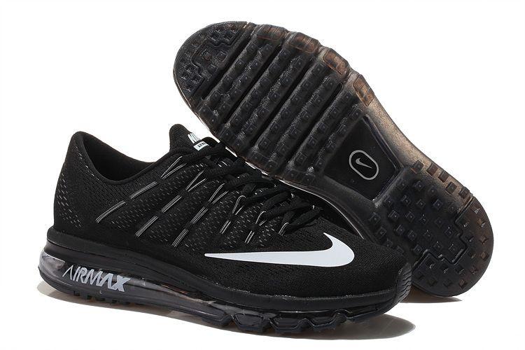 mens nike nike air max 2016 running shoes white black best