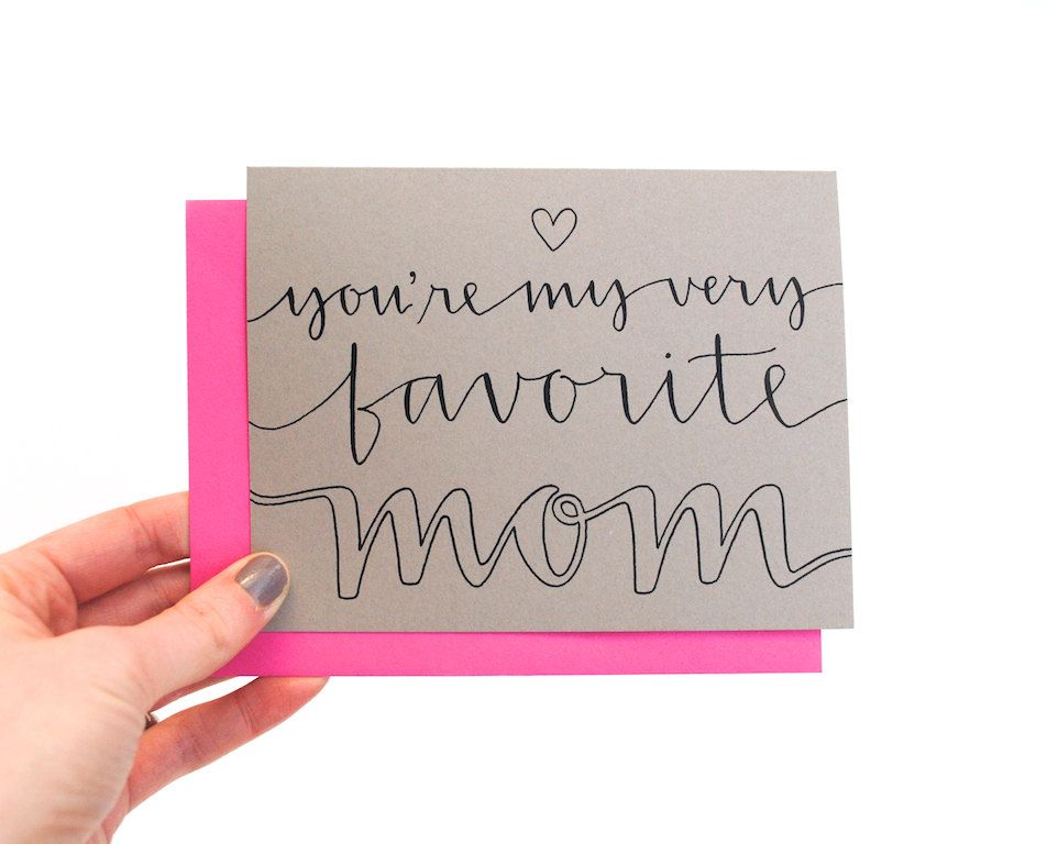 Modern mother s day card with handwritten calligraphy