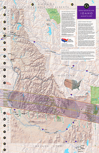 Click To Buy An 11 By 17 Detailed Eclipse Map Of Idaho Idahome