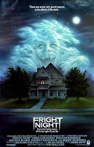 Paramount Prints Fright Night Roddy Macdowell Modern Classic Horror Movie Poster Poster Size A3 Creepy Movies Horror Posters Vampire Movies