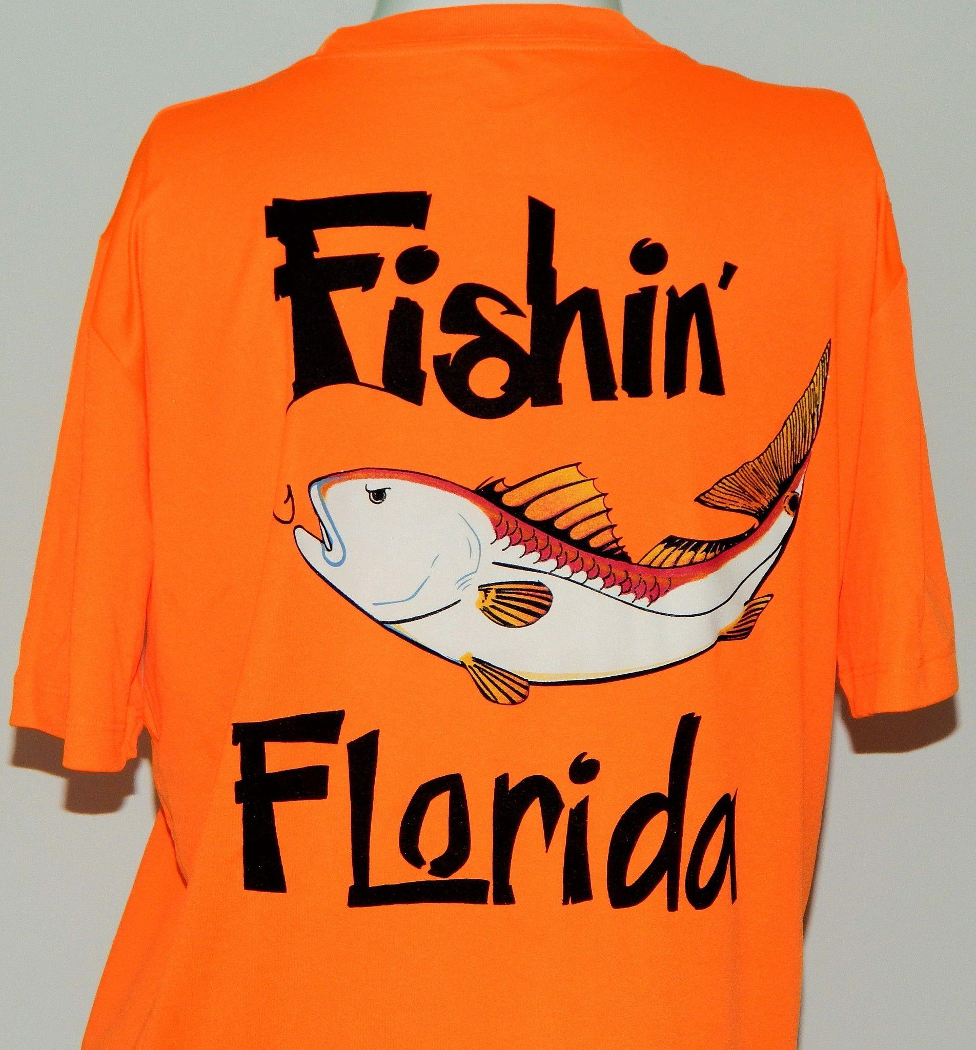 Youth Short Sleeve UPF 50 Dri Fit Performance Shirt: Fishin' Florida Redfish: