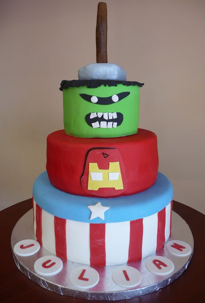 Excellent Marvel Cake By Roscoe Bakery Los Angeles Ca Custom Marvel Funny Birthday Cards Online Fluifree Goldxyz