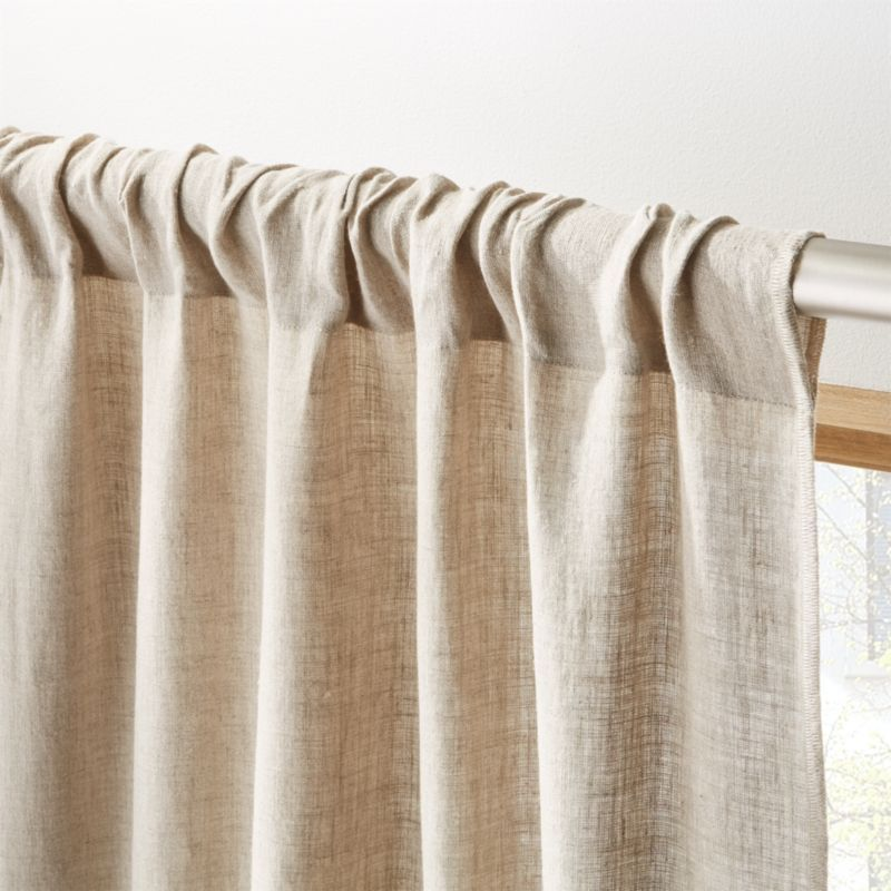 Natural Linen Curtain Panel 48 X108 In 2020 Linen Curtains Curtains Panel Curtains