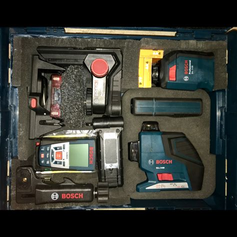 Bosch laser level and distance measuring set of dreams