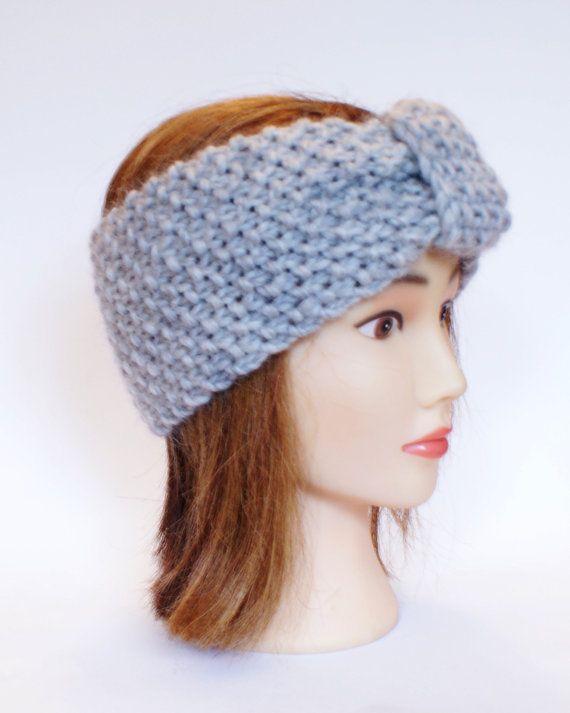 37d9496c261 Irish handknit light gray earwarmer headband 100% by Johannahats ...