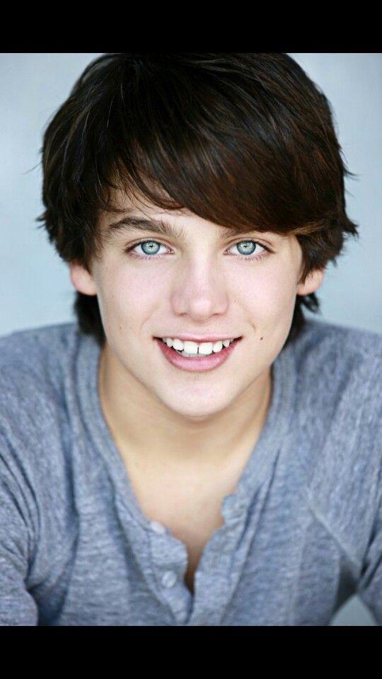 Teenage Boy With Dark Brown Hair And Brown Eyes