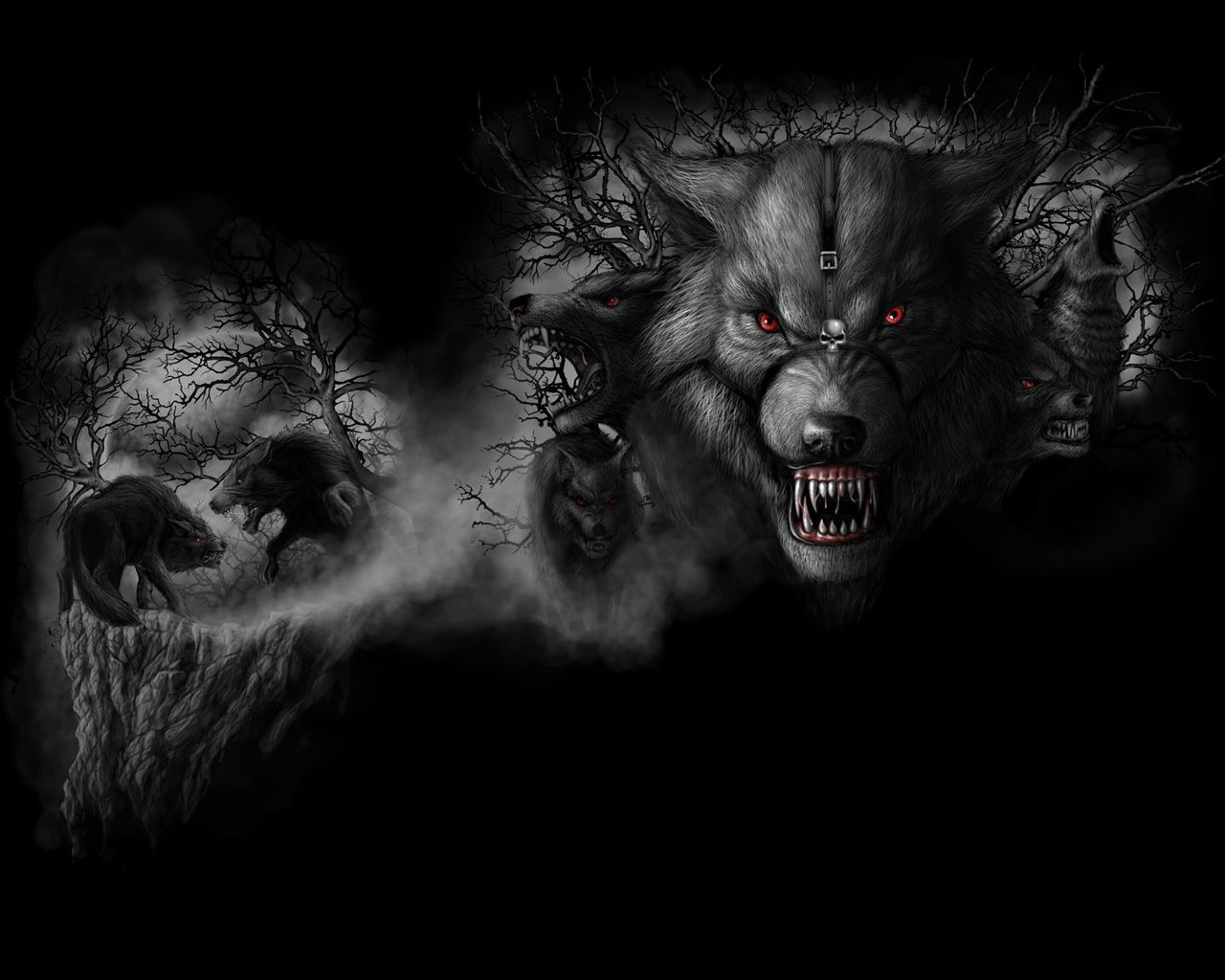 Black and White Angry WereWolfs with red Eyes | Black | Pinterest ... for Angry Wolf Black And White  75tgx