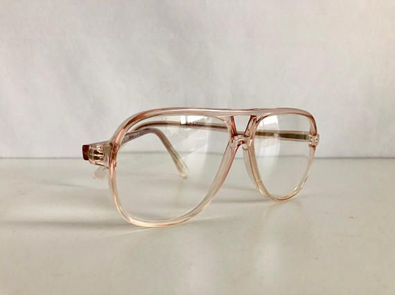 7f1f757db0 Vintage Women s Glasses 80 s Clear Oversize Frames by