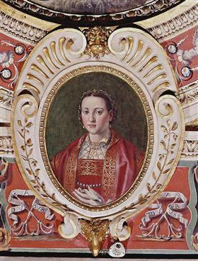 Eleonora of Toledo, daughters of the viceroy of Naples Pedro of Toledo, wife to Cosimo I de Medici, Duke of Florence and Siena - Giorgio Vasari