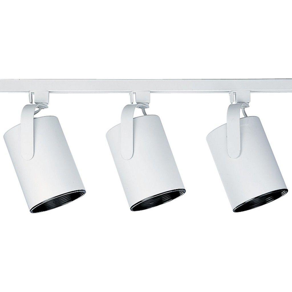 simple track lighting. Progress Lighting Alpha Trak Kit With 3 Flatback Track Heads - 4 Feet Long White Indoor Kits Simple G