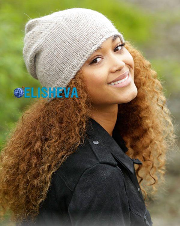 2b8334b90d93 Как просто и быстро связать спицами красивую женскую шапку   Блог  elisheva.ru