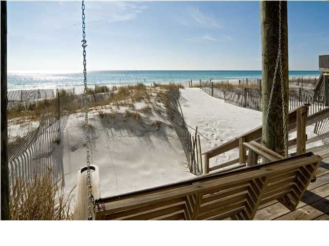 Swinging chair overlooking Destin's gulf. I'd like to read a book here.