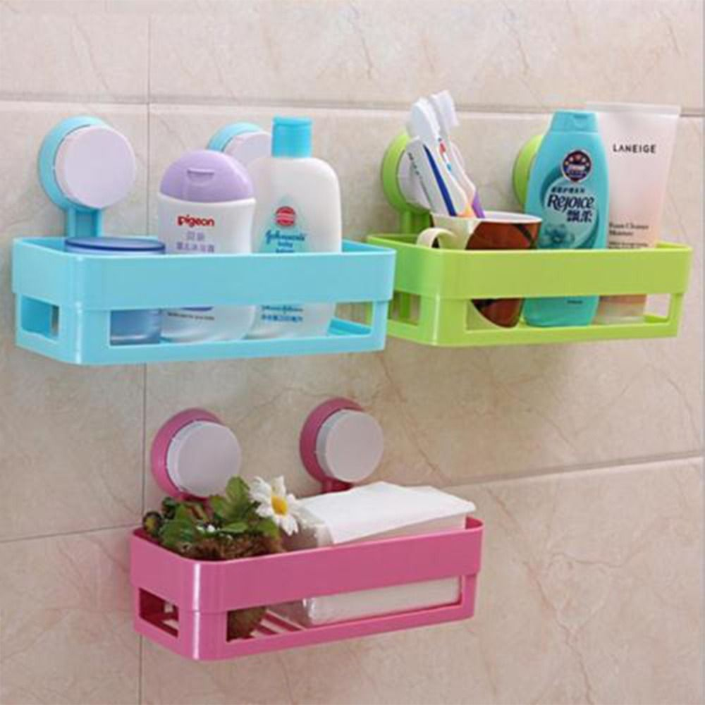 1Pc Multifunction suction cup bathroom shelf wall mounted kitchen s ...