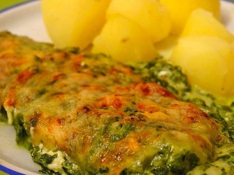 Seelachsfilet mit Spinat - Feta - Kruste 1 #healthyshrimprecipes