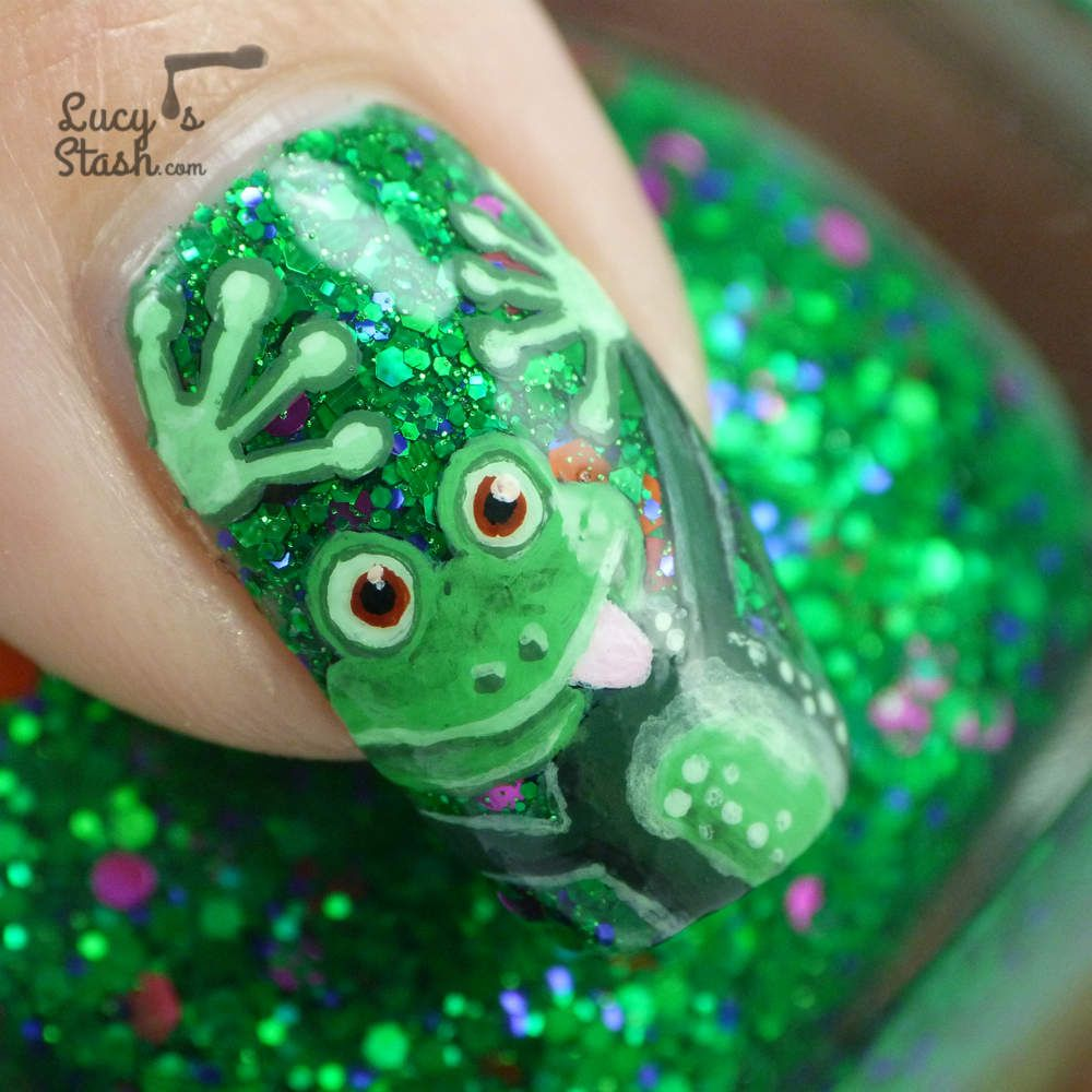 Cheeky Frog Nail Art Design feat. Femme Fatale Noble Garden | The ...